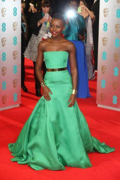 Dior estuvo presente en los BAFTA 2014 gracias a Lupita Nyong'o, quien d...