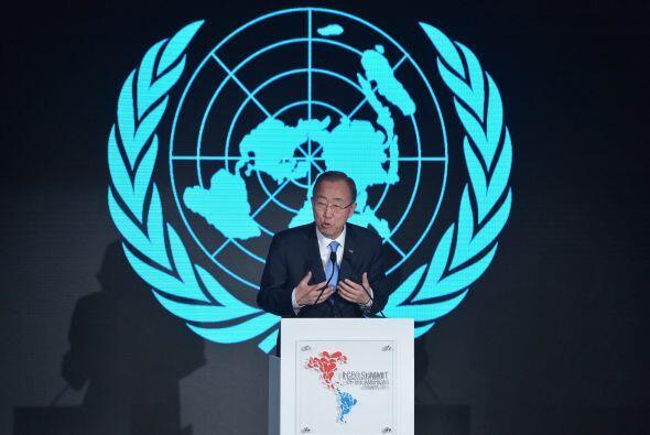 El Secretario General de Naciones Unidas, Ban Ki-moon, también participó...