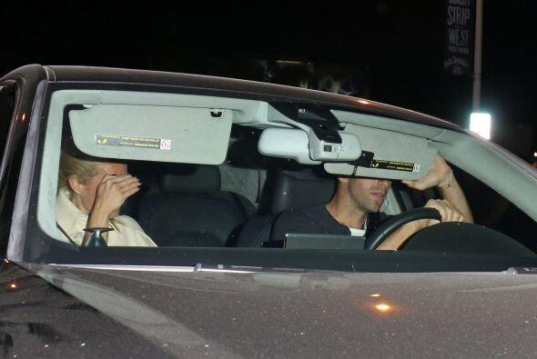 La pareja fue captada en Los Ángeles en una cena para dos en un e...