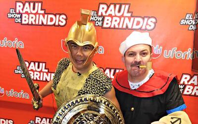Raúl se disfrazó de Centurión Romano, el Turky sac&...