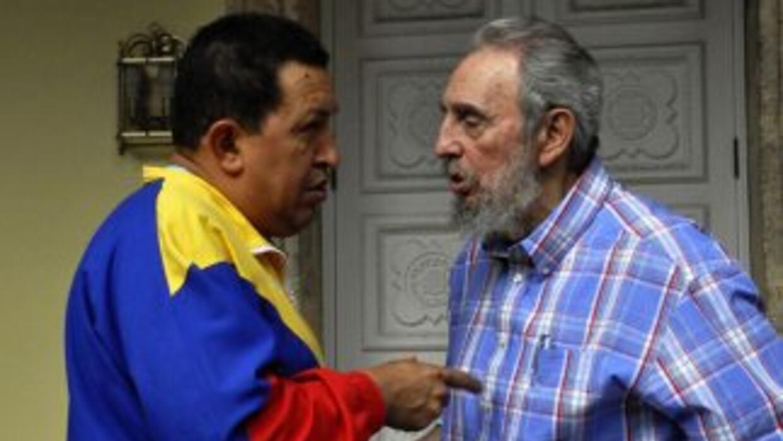 Fidel Castro y Hugo Chávez en uno de sus encuentros.