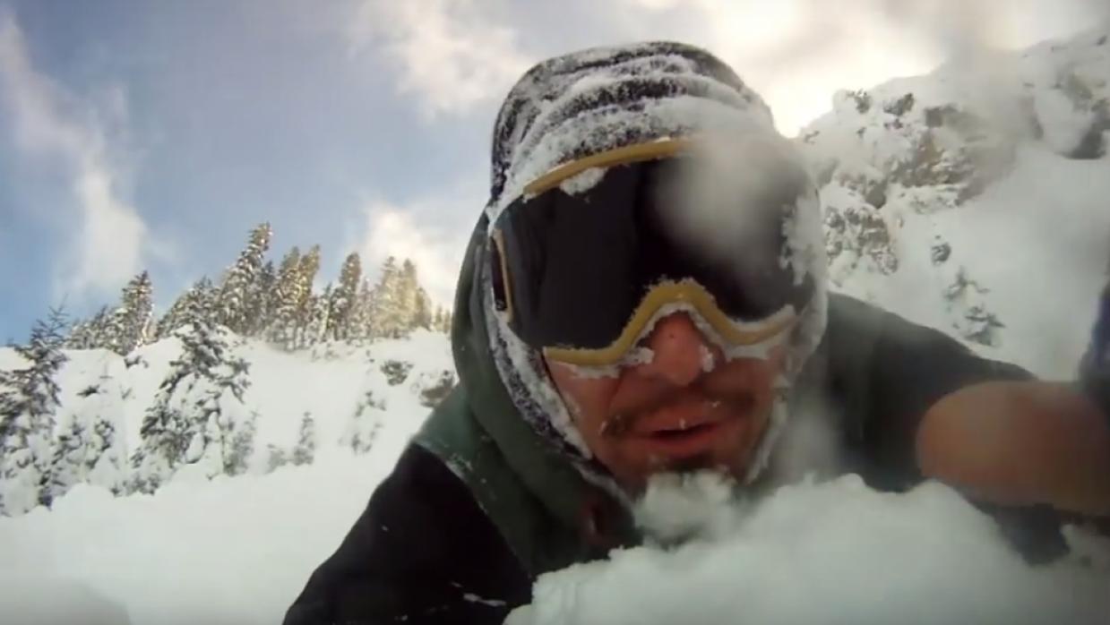 Christian Michael Mares habla a la cámara tras sobrevivir una avalancha