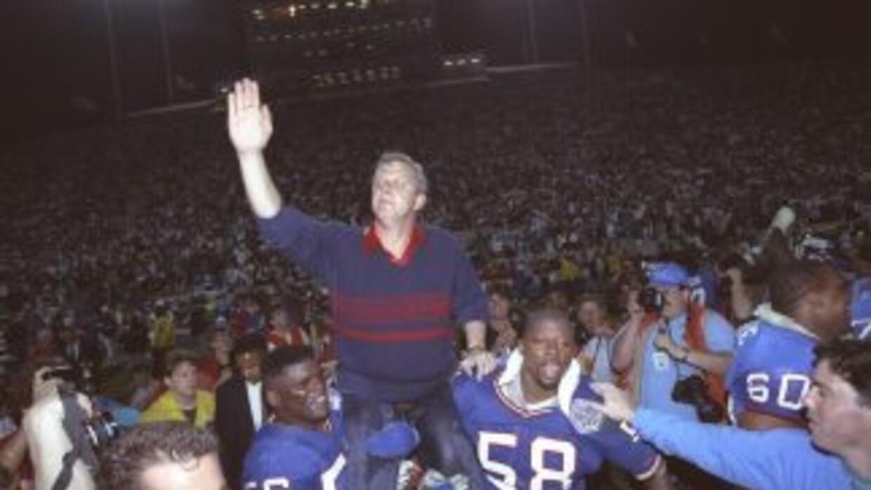 Lawrence Taylor y Bill Parcells ganaron dos Super Bowls con los Giants.