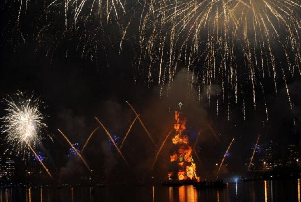 El árbol se iluminará todas las noches,  hasta el 6 de enero de 2012, y...