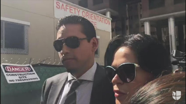 A empujones llegó a la corte Iván Aguilera para encontrarse con Joao, ot...