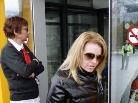 La estrella de cine arribó a Austria con su amada Heather Milliga...