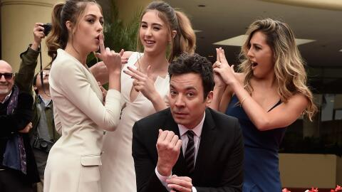 Sophia, Sistine y Scarlett Stallone, hijas del actor Silvester Stallone,...