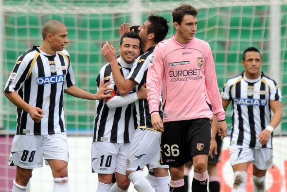 Di Natale marcó un 'hat-trick' y por ello el Udinese humill&oacut...