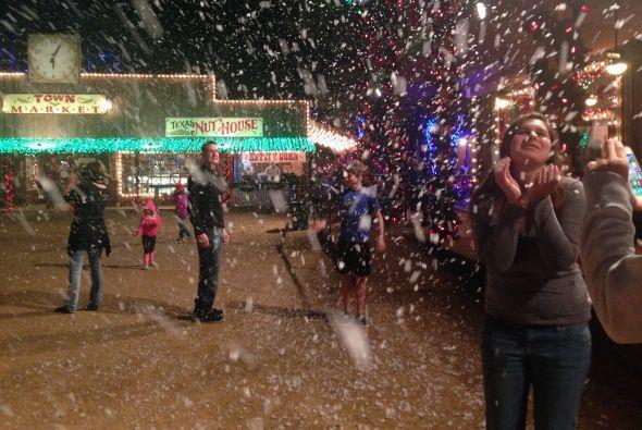 ¡Aquí también cae nieve!