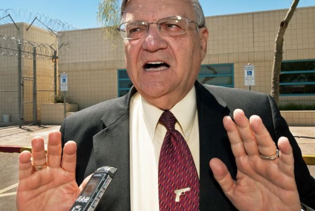 El controvertido alguacil del condado Maricopa, Joe Arpaio, recibió el a...