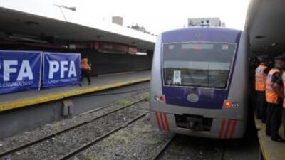 Un tren descarriló en Buenos Aires, Argentina.