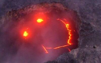 Así se ve por dentro el volcán que sonríe