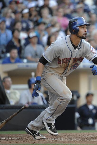 CF. Ángel Pagán. Mets de Nueva York. El puertorriqueño bateó para .444 e...