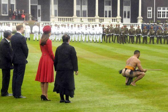 Parte de la ceremonia de bienvenida tradicional Maori. Mira aquí...