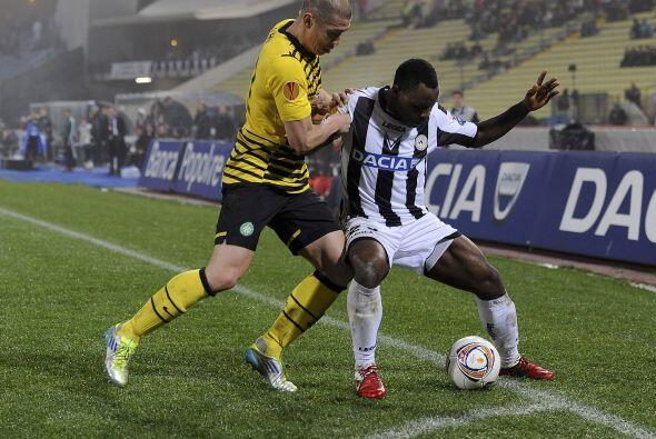 No hubo más anotaciones y el marcador final de 1-1 Udinese se unió a los...