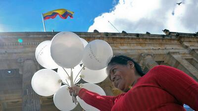 'Implementación ya', era la consigna de los colombianos que apoy...