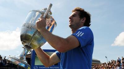 Con el triunfo en Queen's, Murray llegará a Wimbledon con gran confianza.