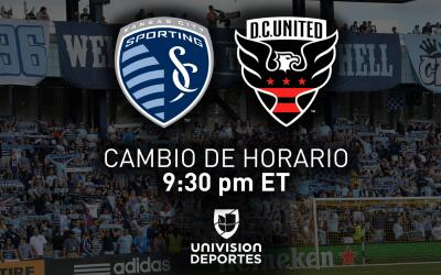 Cambio de Horario Sporting Kansas City vs DC United | Univision Deportes