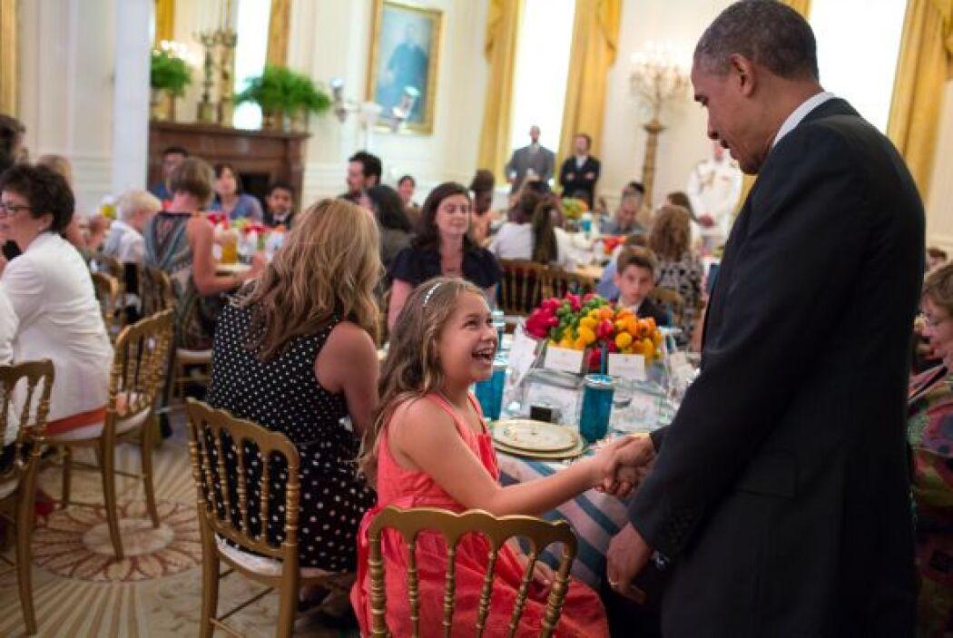 Como parte de los eventos que organiza en la Casa Blanca, donde uno de s...