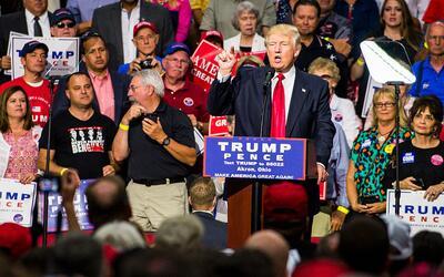 Trump en un acto de campaña