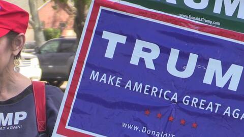 Reunión de simpatizantes de Trump en un parque al este de Sacramento