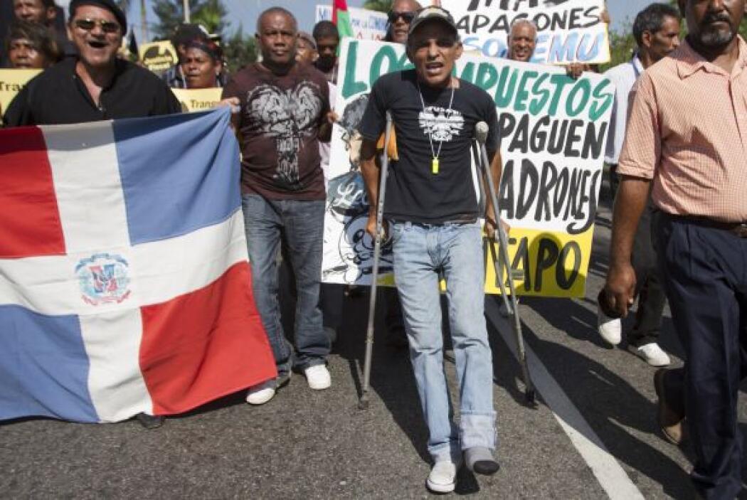 La marcha ante el Congreso, convocada por el movimiento Justicia Fiscal,...