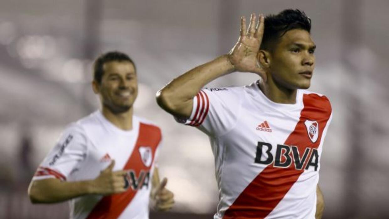 Teófilo Gutiérrez anotó el gol que le dio el empate a River en su visita...
