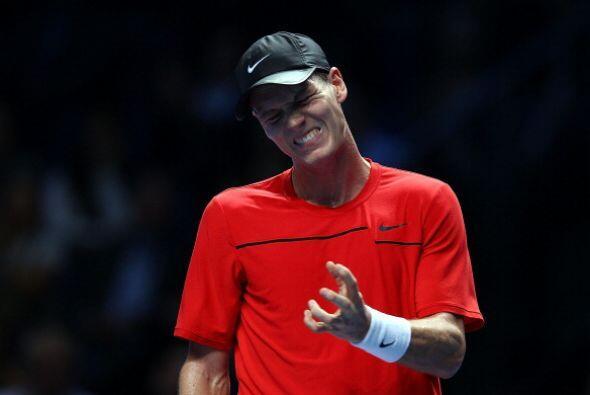 El checo se encontró a un Djokovic desconcertado durante los cuatro prim...