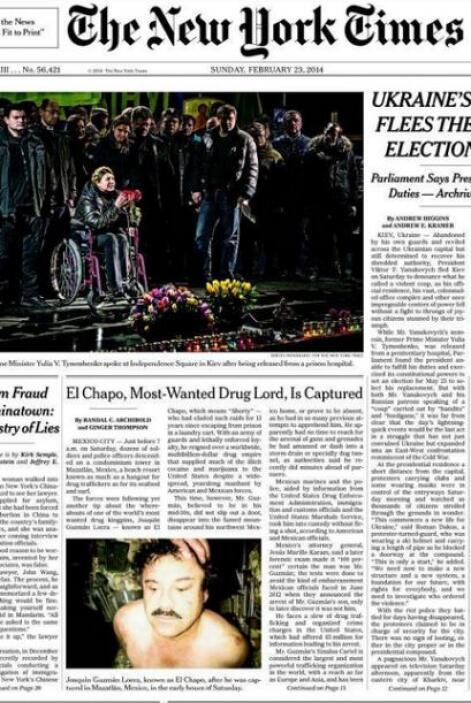Diarios estadounidenses como The New York Times también pblicaron la not...