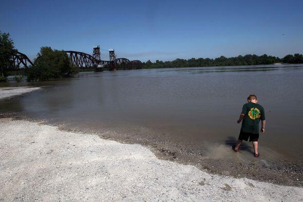 El mítico río Mississippi llega al Golfo de México...