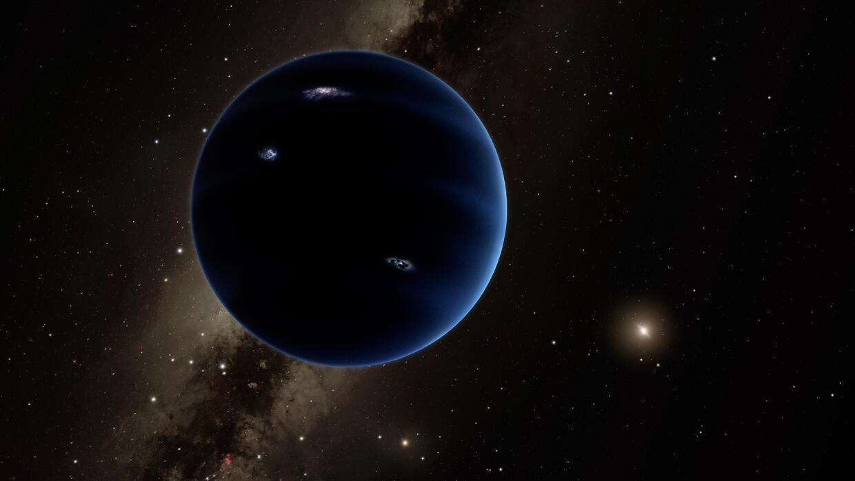 """Representación artística de la posible apariencia del """"Planeta X"""", que s..."""