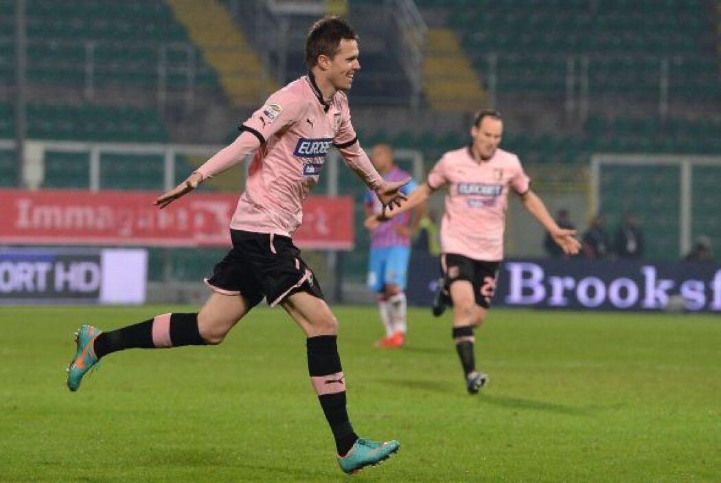 Josip Ilicic también completó un partido redondo con el Palermo.