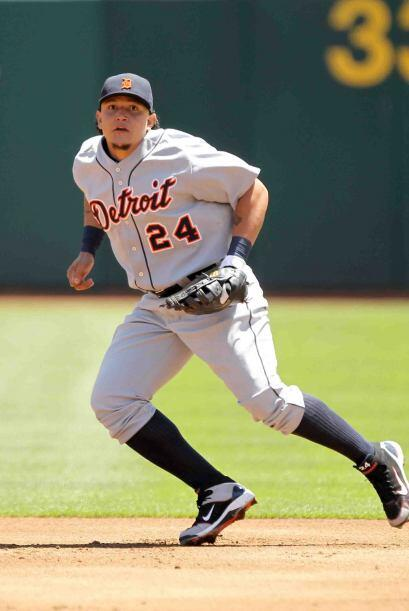 El poderoso primera base venezolano Miguel Cabrera, de los Tigers, es pa...