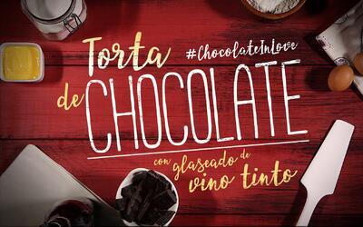 Torta de chocolate con glaseado de vino tinto #ChocolateInLove