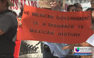 Protesta contra Peña Nieto en Chicago