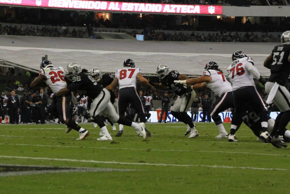 Te presentamos las mejores imágenes que nos dejó el juego entre Raiders...
