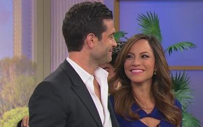 Satcha Pretto y Aaron Butler esperan su primer bebé