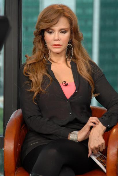 Lucía Méndez se dio el tiempo para bromear con Raúl de Molina durante lo...