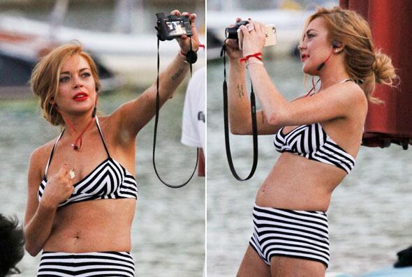 Lindsay es fan de las fotos, como verás.