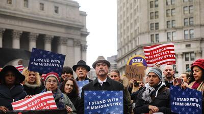 Protesta contra la política migratoria de Trump
