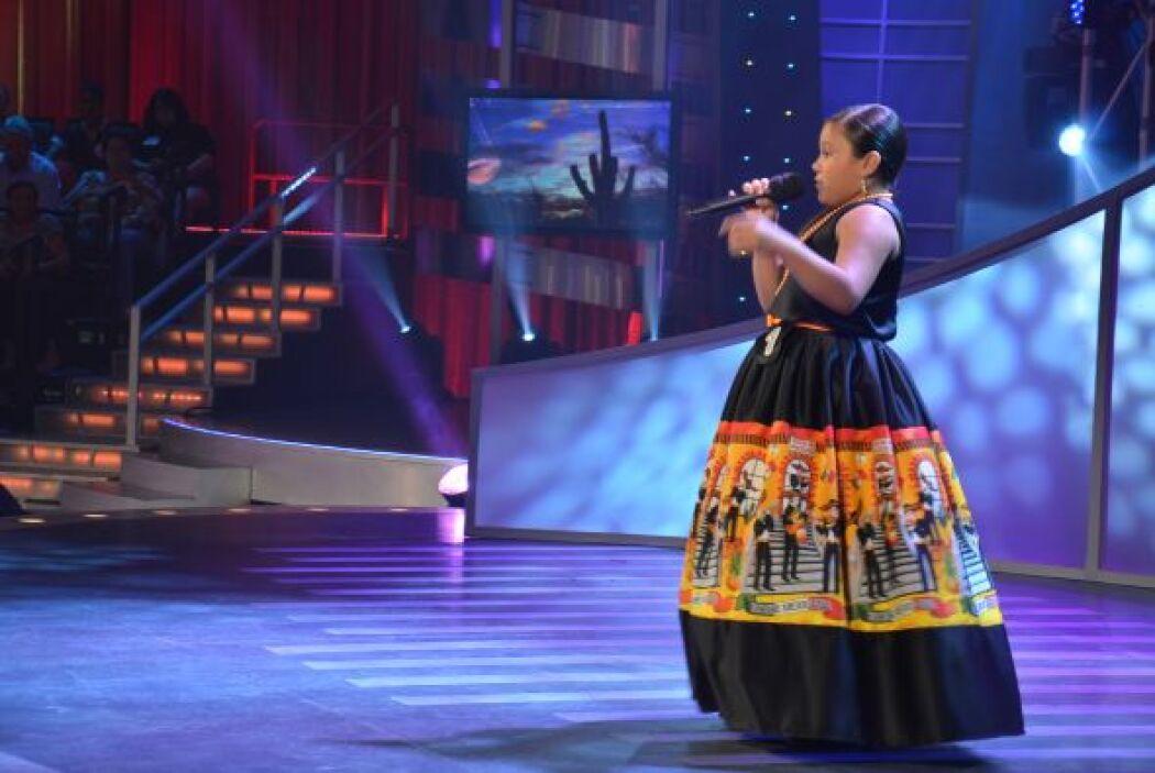 Chelsea Silva se encargó de cantar 'La Charreada'.