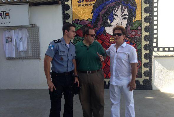 Después, Raúl dio un paseo con Romero Britto.