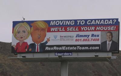 Un aviso publicitario en Utah para los mormones desencantados con Trump...