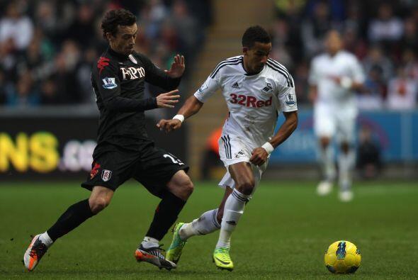 Swansea le ganó 2 a 0 al Fulham.