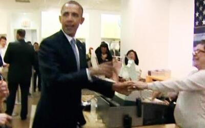 Obama fue de 'shopping' al mall