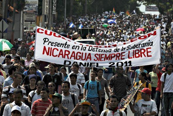 La marcha comenzó en los alrededores de la capitalina Universidad...
