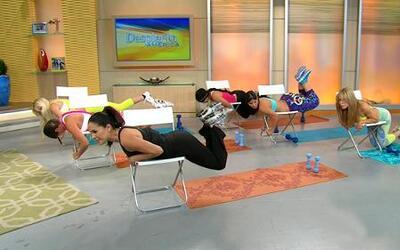 Haz ejercicio para tus glúteos con una silla
