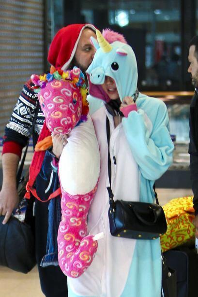 También un día decidió ir vestida de unicornio al centro comercial.