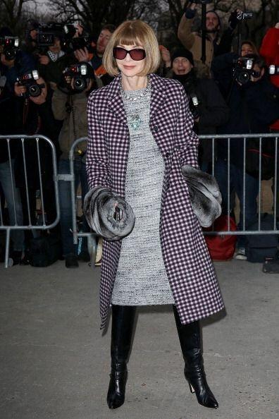La jefa de la edición norteamericana de la revista Vogue, Anna Wi...