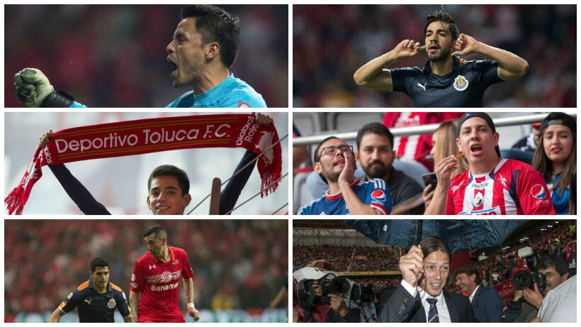 Chivas sacó empate con sabor a triunfo del Nemesio Diez Collage Toluca C...